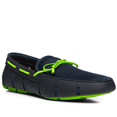 SWIMS Braided Lace Loafer 21215/navy-green