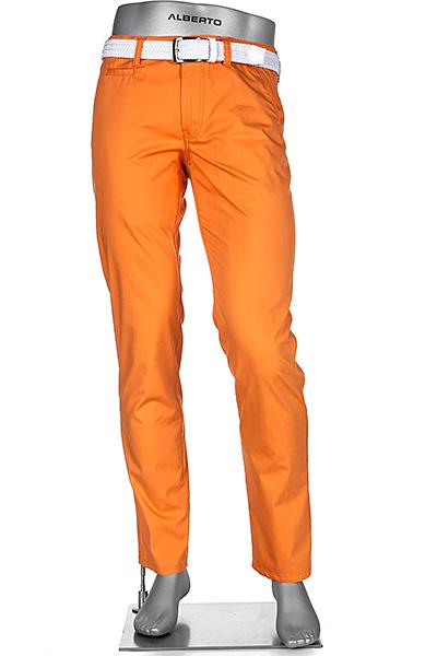 alberto golf regular slim fit rookie in orange. Black Bedroom Furniture Sets. Home Design Ideas