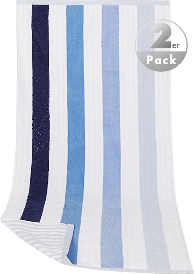 handtuch x cm pack baumwolle wei blau gestreift von kleinmann bei. Black Bedroom Furniture Sets. Home Design Ideas
