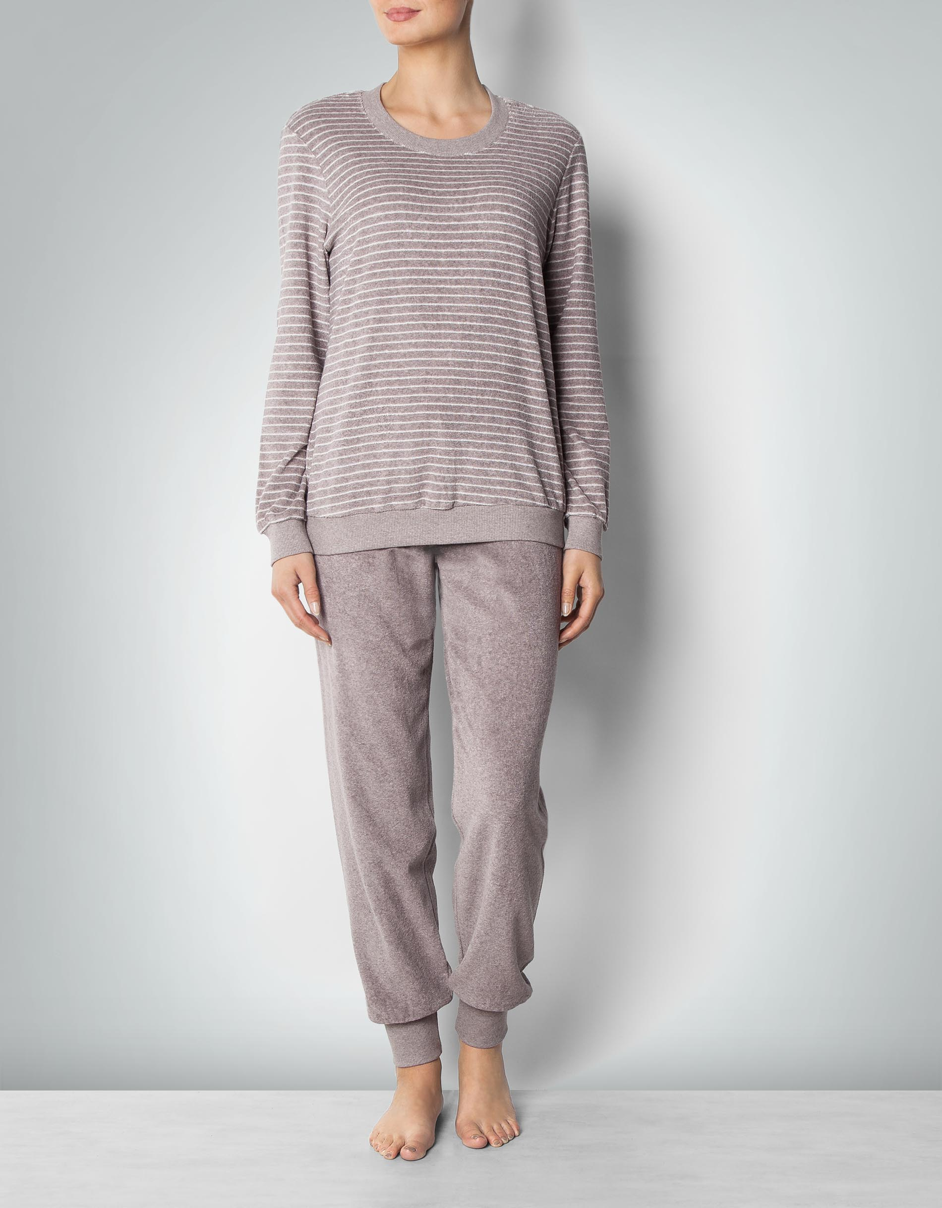 später Entdecken verkauft Schiesser Damen Pyjama lang in Frottee-Qualität empfohlen ...