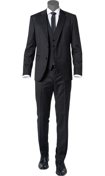 hugo boss anzug in schwarz. Black Bedroom Furniture Sets. Home Design Ideas