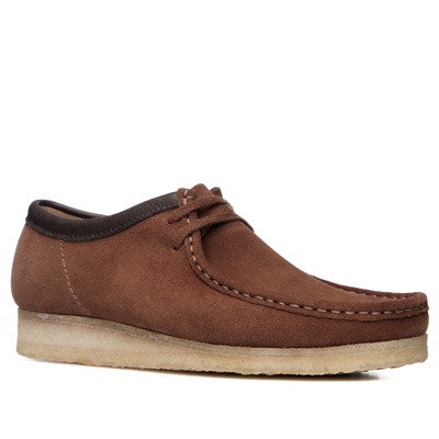 Clarks Wallabee dark tan suede 26118578G