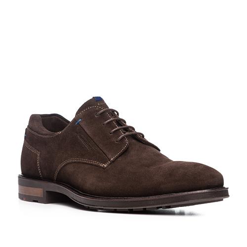 Artikel klicken und genauer betrachten! - LLOYD Business, Fashion - Derby Modell MARE Schnürschuhe in Derby-Form mit glattem Vorderblatt. Super-flexibel durch die hochwertige Strobel-Machart, ein Klassiker der traditionellen Schuhmacherkunst. Dadurch sind die Schuhe extrem leicht und komfortabel, die Schaftrandpolsterung bietet zusätzlich ein bequemes Tragegefühl. Aus weichem, anschmiegsamem Kalbnubukleder mit lässig-sportiver Schaftlinienführung und mit handwerklichen Nahtakzenten in Kontrastfarbe. Die Zweikomponten Laufsohle mit hochwertigem Lederrahmen und das herausnehmbares Fußbett mit Kugelferse, Memory-Fersenpunkt, Softflexform Vorfuß, Aktivkohlefilter und antibakteriellem Fleece machen diesen Schuh zum innovativen Allrounder in jeder Lebenslage. X-MOTION - das Beste aus zwei Welten Die Trennung zwischen Freizeit und Business ist aufgehoben. Der Mann erwartet heute auch im Business ein Maximum an Komfort, aber sportiv und modisch übersetzt. Wer zum ersten Mal in die neuen X-Motion Modelle steigt, wird ein völlig neues Laufgefühl bei einem Business-Schuh erleben. Unter der eleganten Oberfläche versteckt sich eine flexible, super leichte Laufschuhtechnik. Hier wird Komfort frisch und sportiv interpretiert. LLOYD X-Motion bietet eine abriebbeständige Gummilaufsohle, deren Sohlenkern nachhaltig Gelenke und Wirbelsäule schont. Ein ebenfalls in die Sohle integriertes, stabilisierendes Gelenk, der sogenannte Shank, sorgt zudem für eine kontrollierte Abrollbewegung des Fußes. Durch einen Lederbezug am Absatz erhält diese im Business-Bereich innovative Technologie eine hochwertige Optik. Abgerundet wird jedes X-Motion-Modell durch eine herausnehmbare Einlegesohle mit atmungsaktivem Sohlenkern , die den gesamten Bewegungsapparat zusätzlich abfedert. Hier sorgen formstabiles Dämpfungsmaterial verteilt über die gesamte Lauffläche und eingearbeitete Komfortzonen für optimalen Tragekomfort sowie den perfekten Halt der Ferse und Schutz des Fußlängsgewölbes. Nicht verschweig