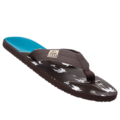 REEF Zehensandale brown-blue palm R2076/WUP