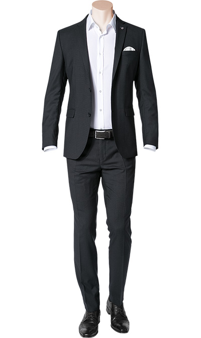 cg anzug in schwarz. Black Bedroom Furniture Sets. Home Design Ideas