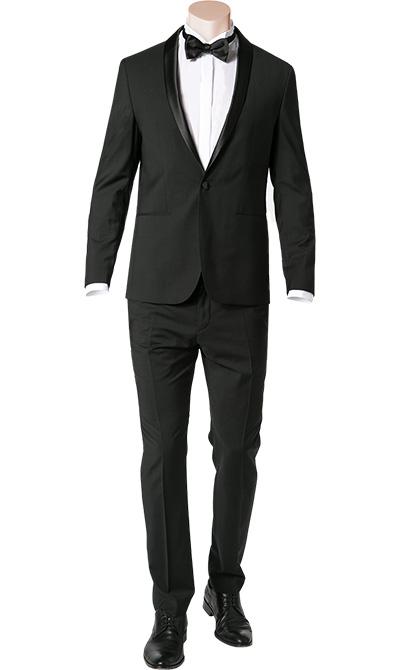 anzug smoking fitted wolle schwarz von calvin klein bei. Black Bedroom Furniture Sets. Home Design Ideas