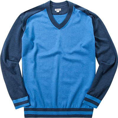 ASHWORTH Pima Melange Sweater coastal blue AE9494