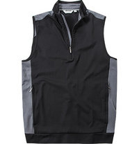 ASHWORTH Stretch Half-Zip Vest black
