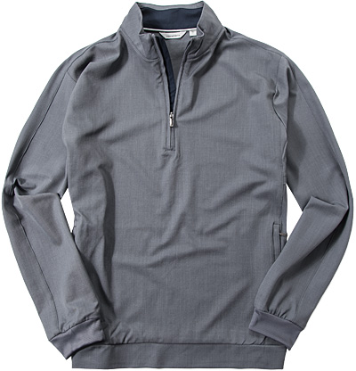 ASHWORTH Stretch Half-Zip Pullover graphite B38218