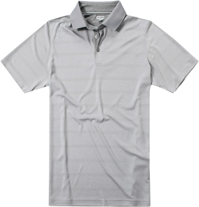 ASHWORTH Plaited Golf Shirt medium grey AE7658