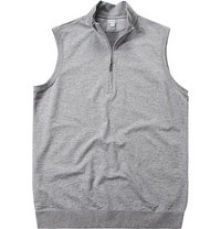 ASHWORTH French Half-Zip Vest grey