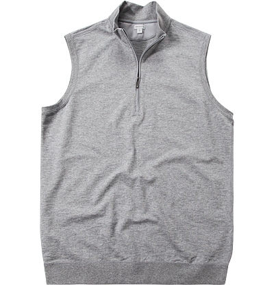 ASHWORTH French Half-Zip Vest grey AE8440