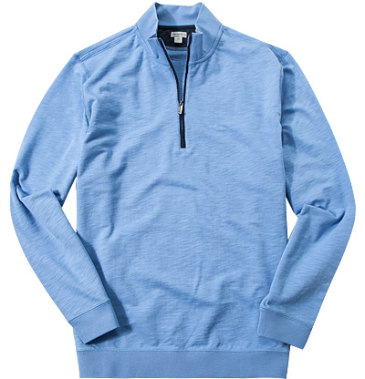 ASHWORTH French Half-Zip Pullover seaside AE4791