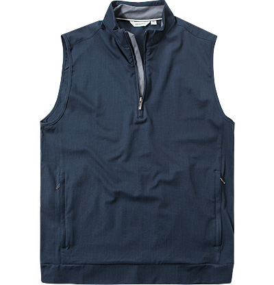 ASHWORTH Stretch Wind Half-Zip Vest navy AE8434