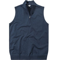 ASHWORTH French Half-Zip Vest navy