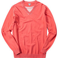ASHWORTH C. Plaited V-Neck Sweater coral