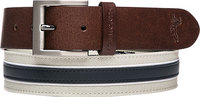 ASHWORTH Leather Cotton Belt light khaki