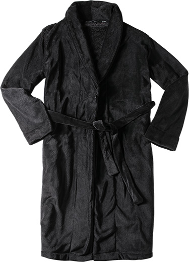 bath robe bademantel microfaser schwarz von jockey bei. Black Bedroom Furniture Sets. Home Design Ideas