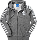 adidas ORIGINALS Sweatjacke dark grey AY7786