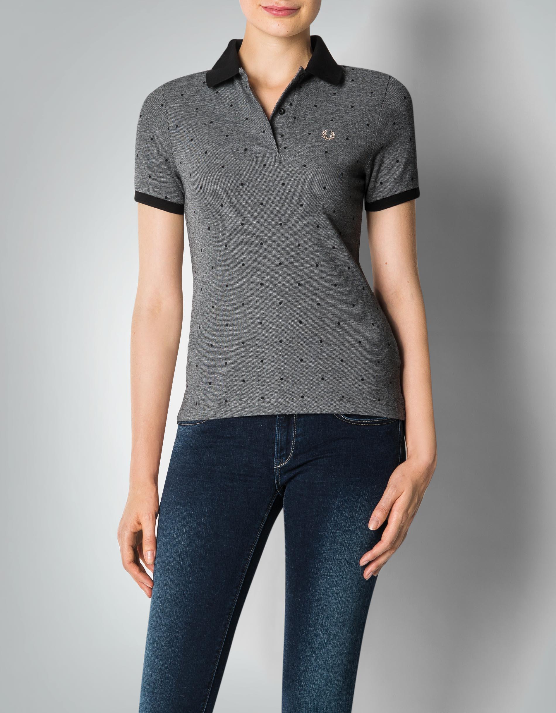 fred perry damen polo shirt im punkte dessin empfohlen von. Black Bedroom Furniture Sets. Home Design Ideas