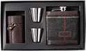 Barbour Hip Flask and Cups MAC0152TN11