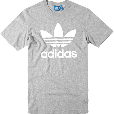 adidas ORIGINALS T-Shirt medium grey AY7708