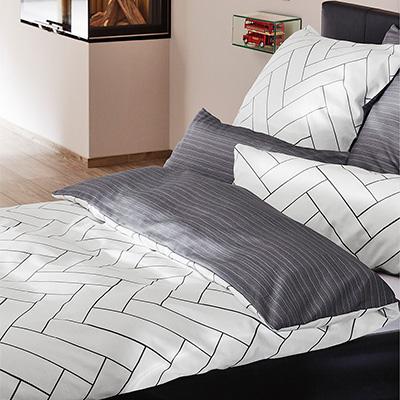 bettw sche grau wei cm baumwolle wei grau von bugatti bei. Black Bedroom Furniture Sets. Home Design Ideas