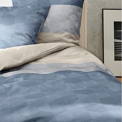bugatti bettw sche 135x200 blau beige in blau. Black Bedroom Furniture Sets. Home Design Ideas