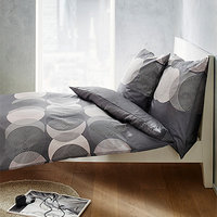 bugatti Bettwäsche grau-weiß