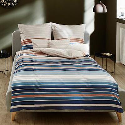 Bettwäsche 135x200 blau-beige