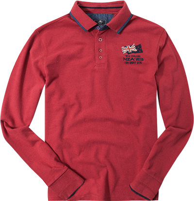 N.Z.A. Polo-Shirt 16GN203/red melange