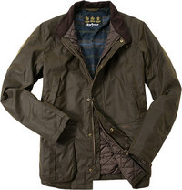 Barbour Jacke Leeward Wax olivgrün