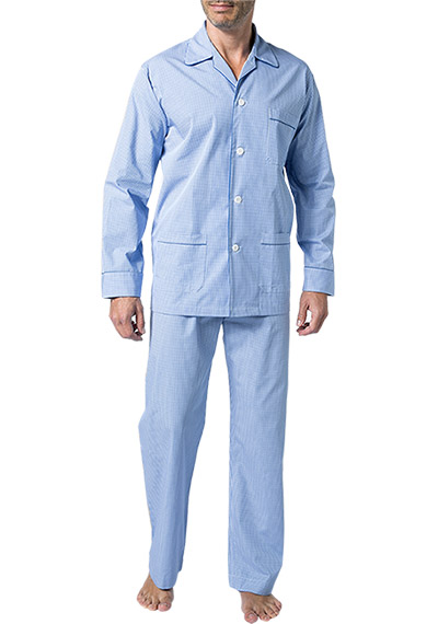 DEREK ROSE Piped Pyjama Set 5005/GING001BLU