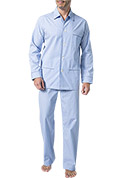 DEREK ROSE Piped Pyjama Set 5005/JAME001BLU