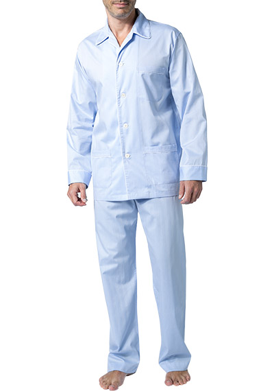 DEREK ROSE Piped Pyjama Set 5005/STOW031BLU