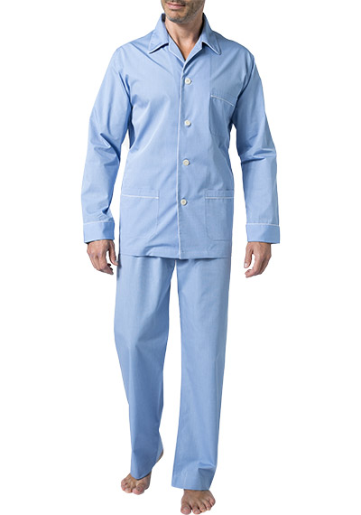 DEREK ROSE Piped Pyjama Set 5005/MAES002BLU