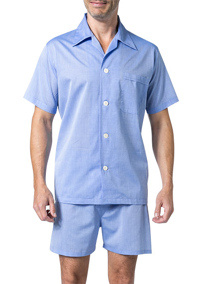 DEREK ROSE Shortie Pyjama Set 6250/AMAL001BLU