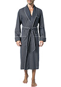 DEREK ROSE Piped Dressing Gown 5505/PLAZ021NAV