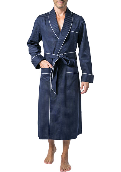 DEREK ROSE Piped Dressing Gown 5505/ROYA040NAV
