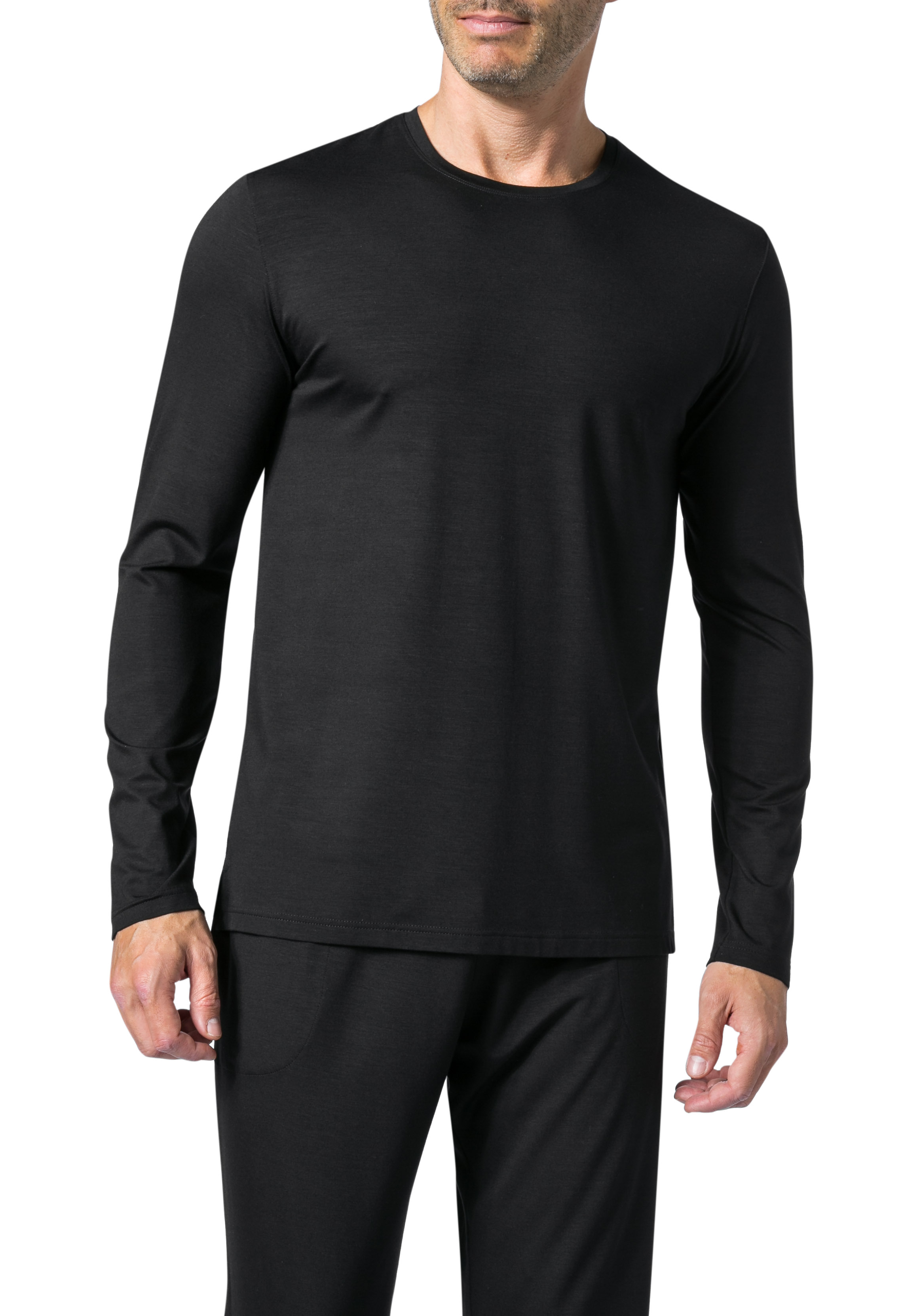 DEREK ROSE Long Sleeve T-Shirt 3083/BASE001BLA