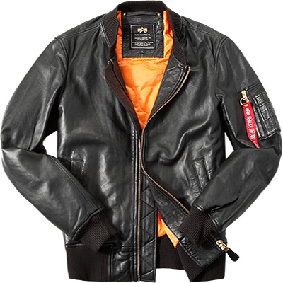 ALPHA INDUSTRIES Lederjacke MA-1 VF PM 168151/03