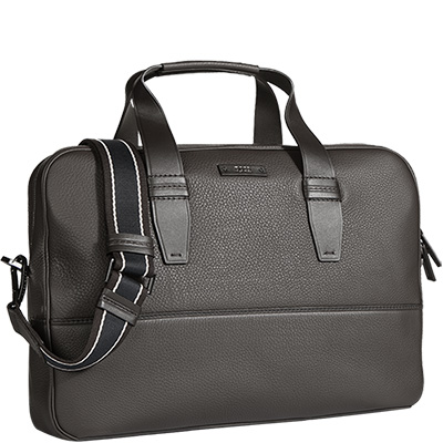 tasche aspen laptop rindleder dunkelbraun von hugo boss. Black Bedroom Furniture Sets. Home Design Ideas
