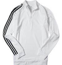 adidas Golf Zip-Shirt white-black