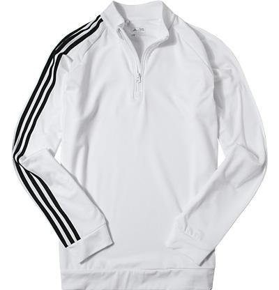 Zip-Shirt white-black