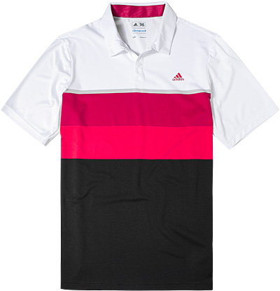 adidas Golf Polo-Shirt white-pink AF0889