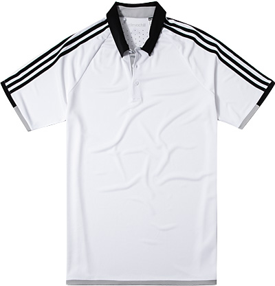 adidas Golf Polo-Shirt white-black AE4076