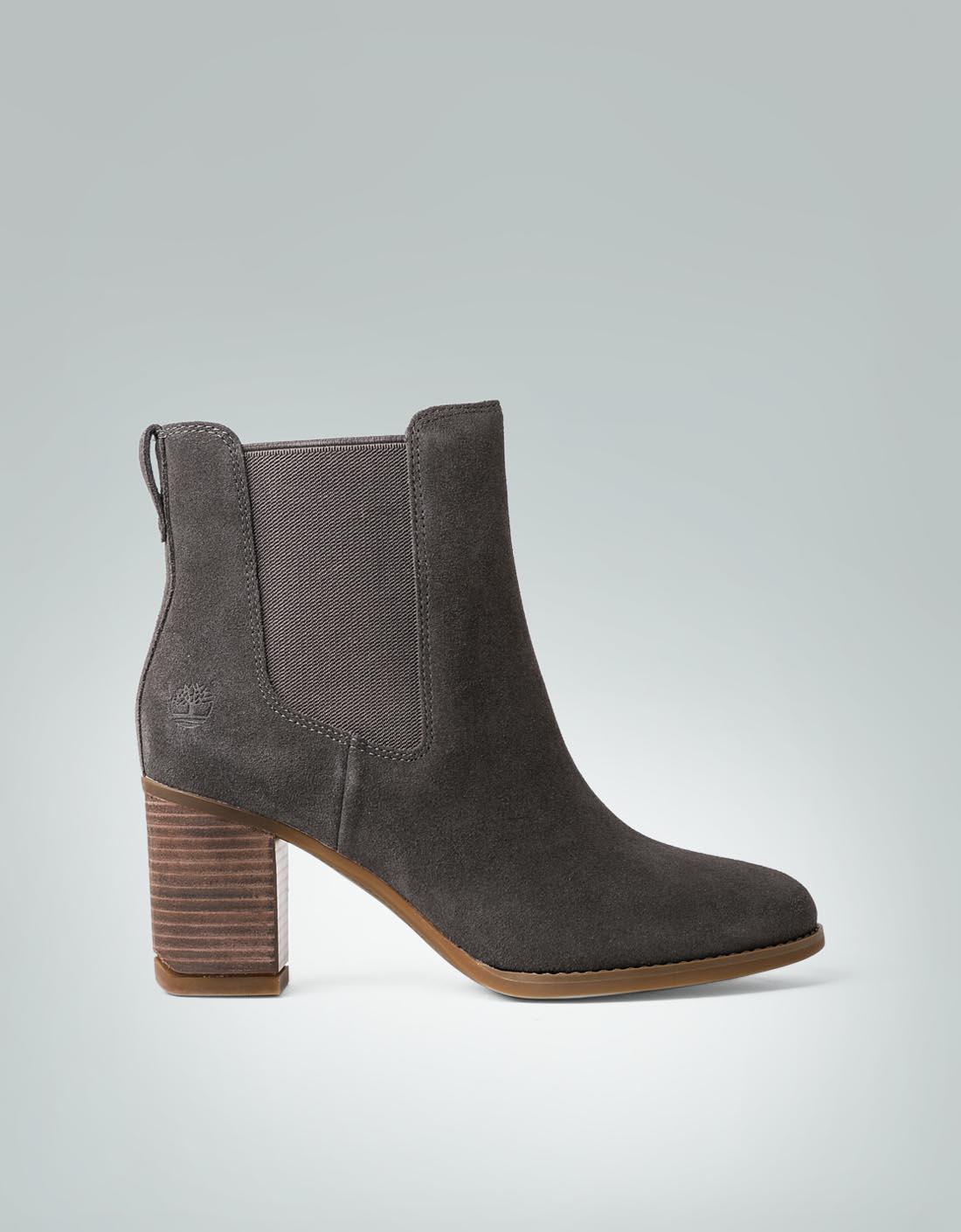 Timberland Damen Schuhe Stiefelette mit seitlichen Elastik-Einsätzen grau 5nLm68