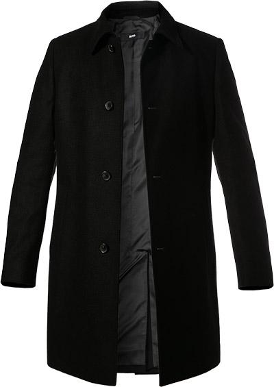 hugo boss mantel task1 in schwarz. Black Bedroom Furniture Sets. Home Design Ideas