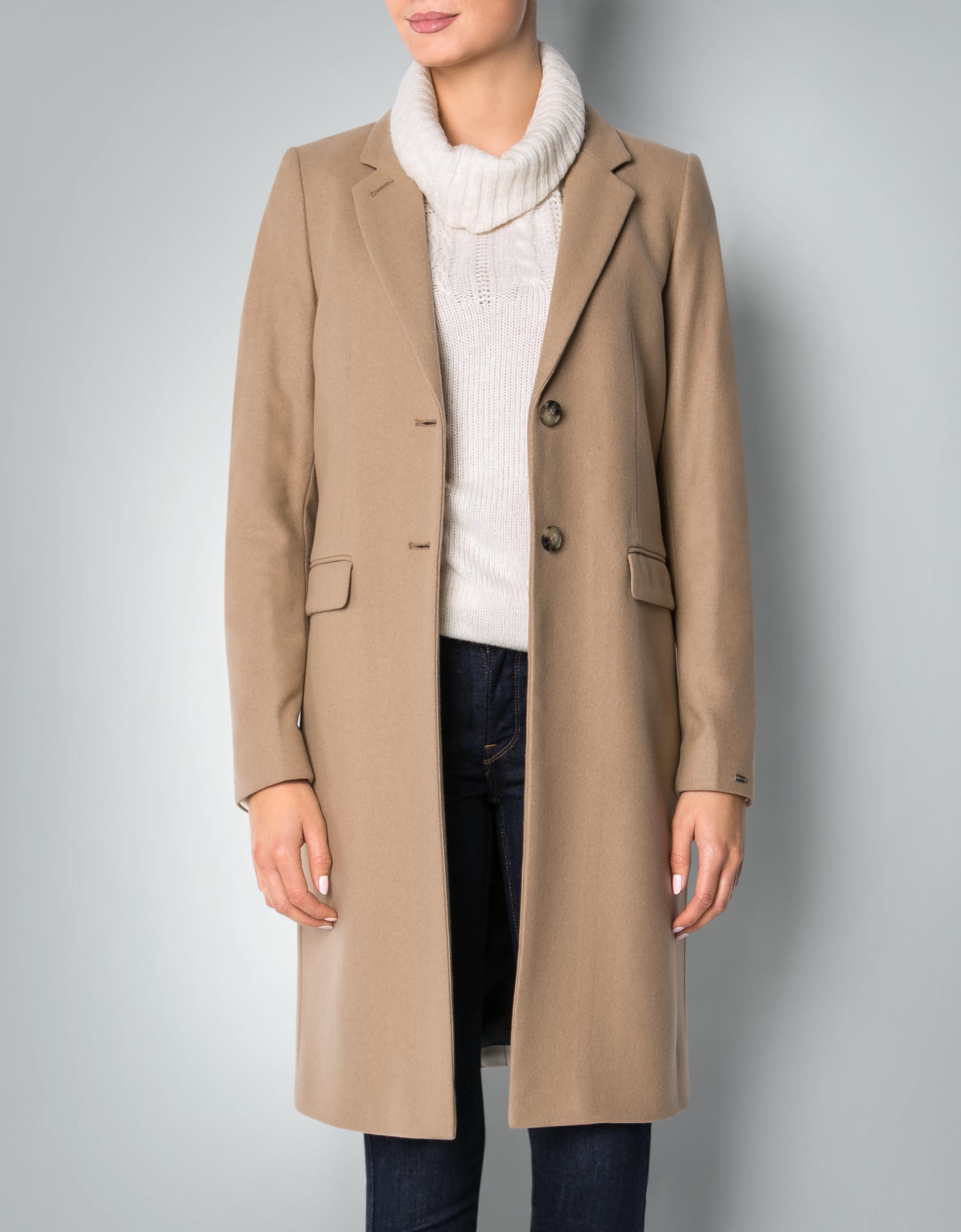 tommy hilfiger damen mantel aus schurwolle empfohlen von. Black Bedroom Furniture Sets. Home Design Ideas