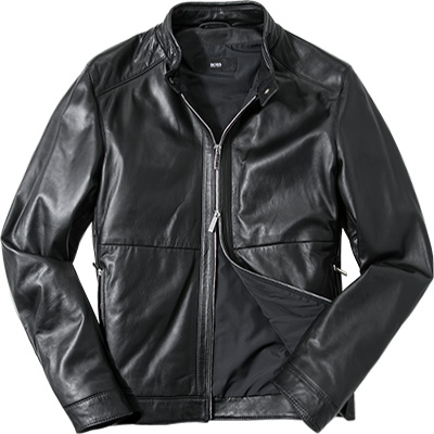 HUGO BOSS Lederjacke Nortilo 50326387/001